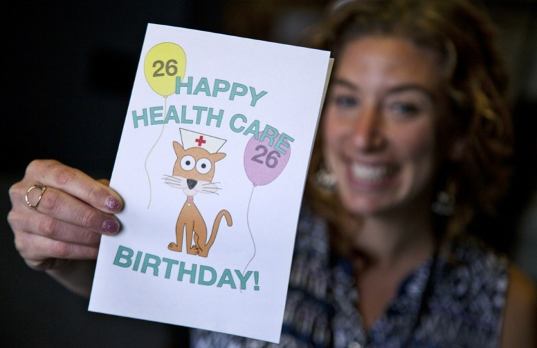 Health insurance turning 26 birthday card